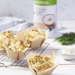 herbalife muffins met feta dille champignonsmaak